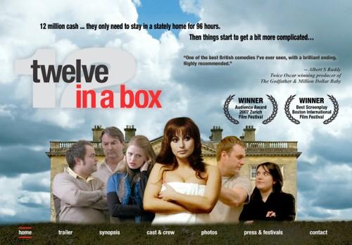 entertainment industry website design - film website Twelve in a Box