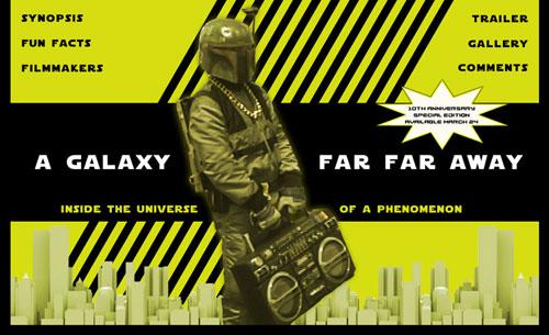 entertainment industry website design - documentary film website A Galaxy Far, Far Away