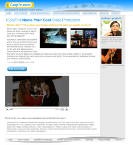 entertainment industry website design - iCorp