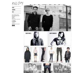 fashion website design - Kill City Jeans