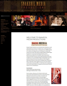 entertainment industry website design - adult production website Snakeoil Media Productions