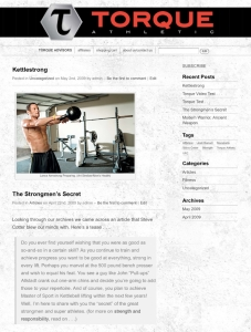 corporate website design - health and beauty  website design - Torque Athletic